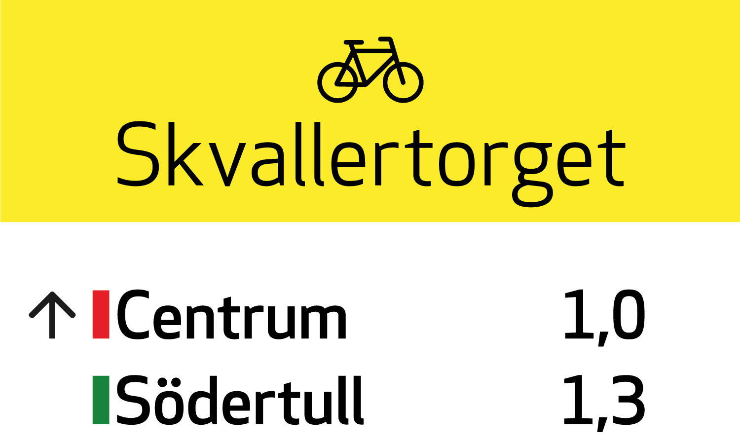 Bike signage for City of Norrköping by Viktor Lanneld and Vicky Trouerbach
